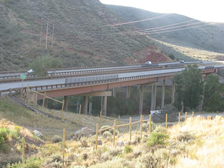 I-70Eastbound over US 6, EagleRiver, and Railroad