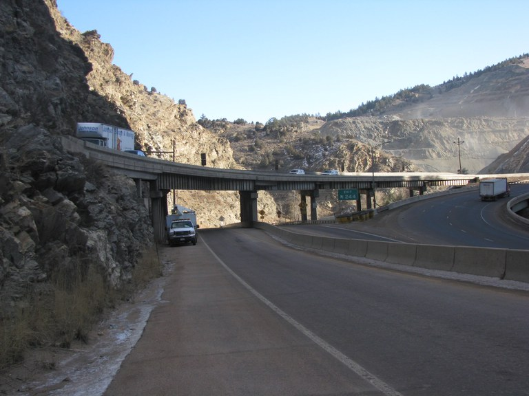 I-70 Westbound over US-6 and Clear Creek