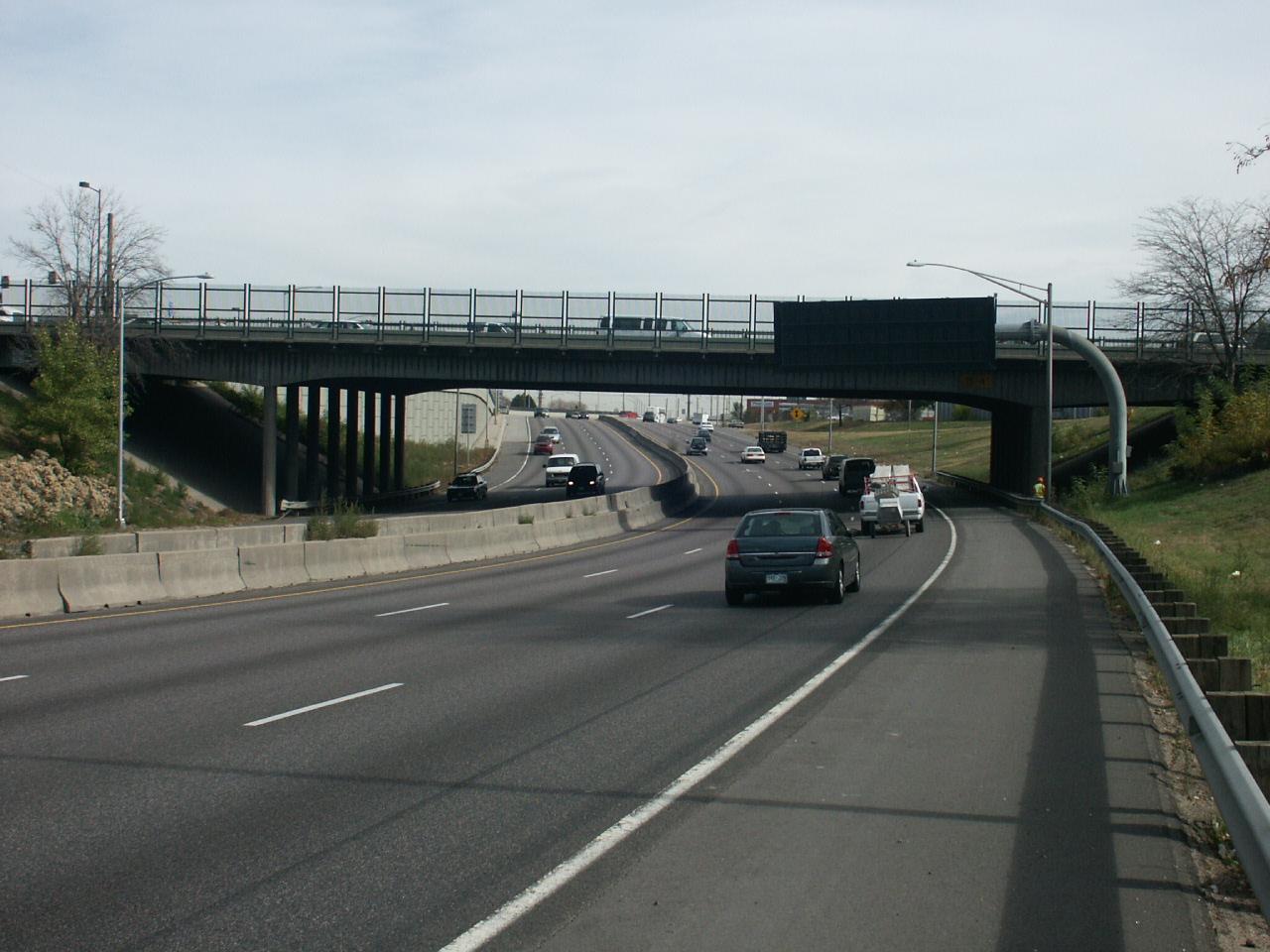 Pecos Street over I-70 in Denver
