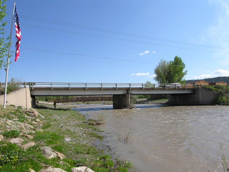 SH 62 over Uncompahgre River. Sherman Street in Ridgway