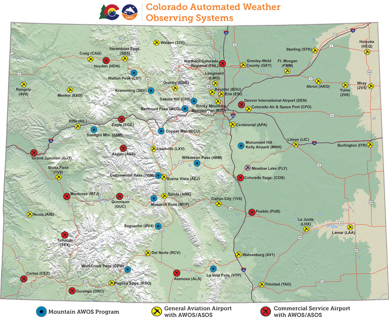 CO AWOS Map