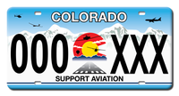 "Get Your Colorado ""Support Aviation"" License Plate"