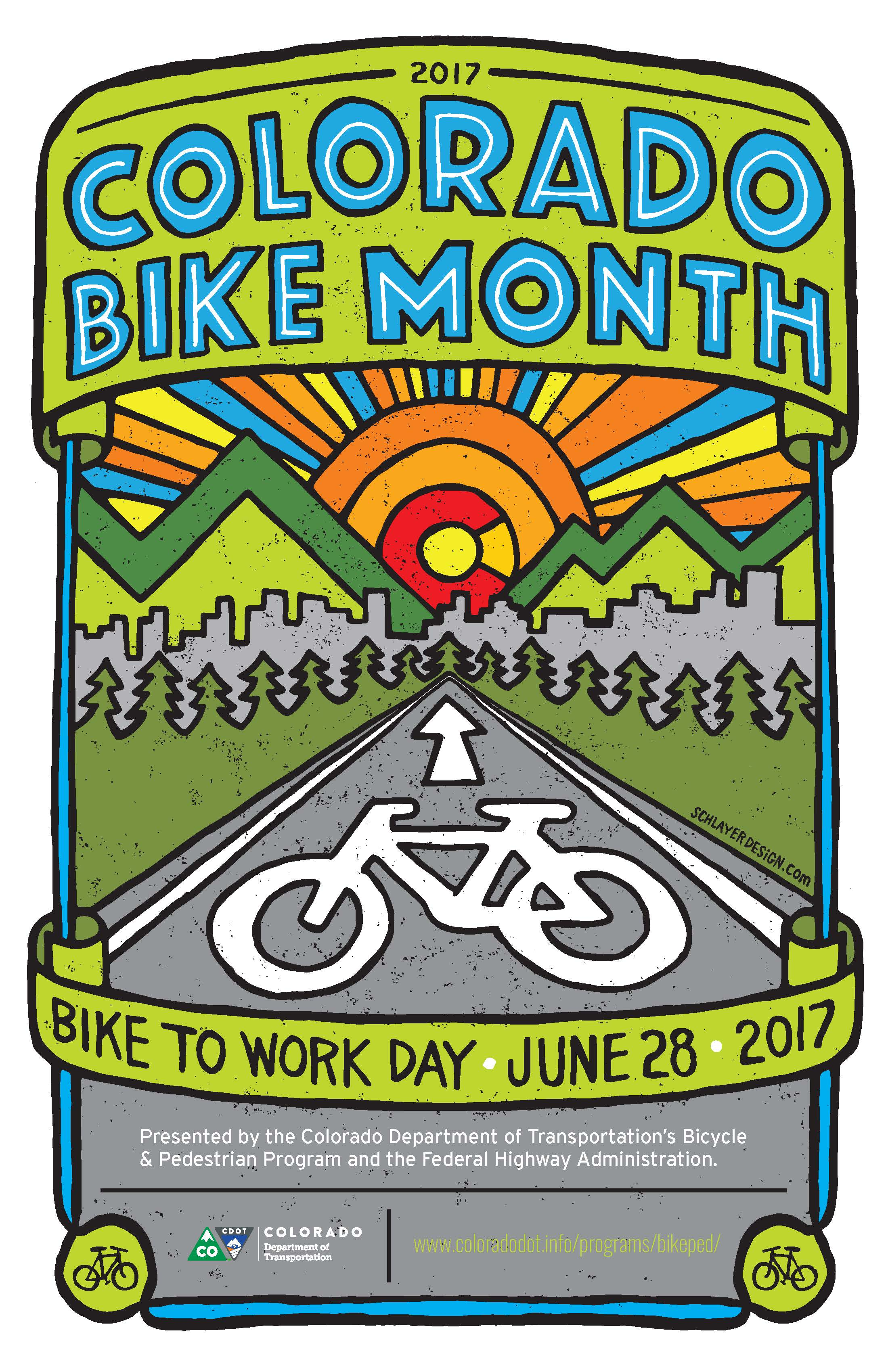 2017 Bike to Work Day Poster detail image