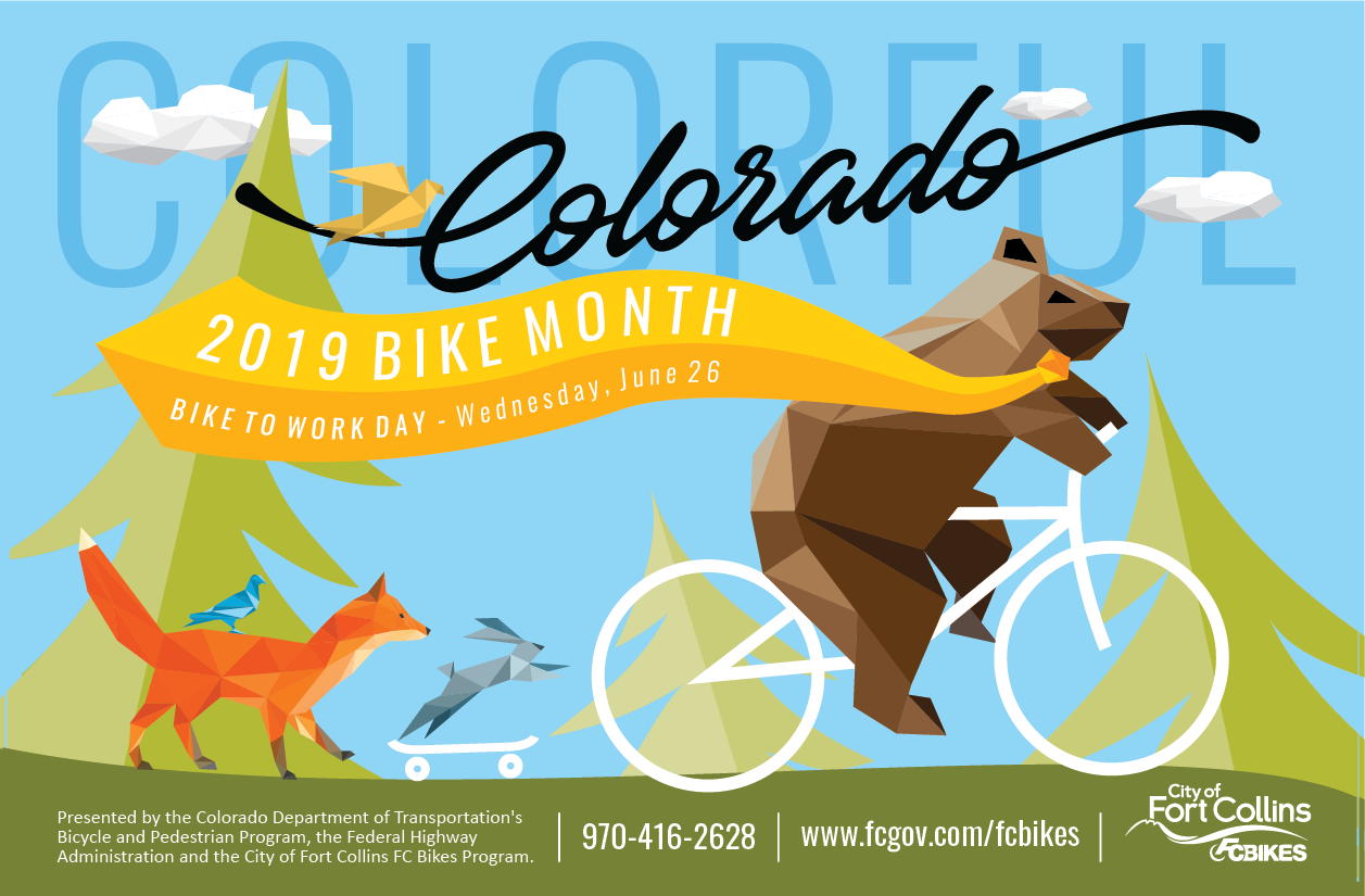 2019 Bike Month Poster