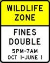 Wildlife Zones Sign