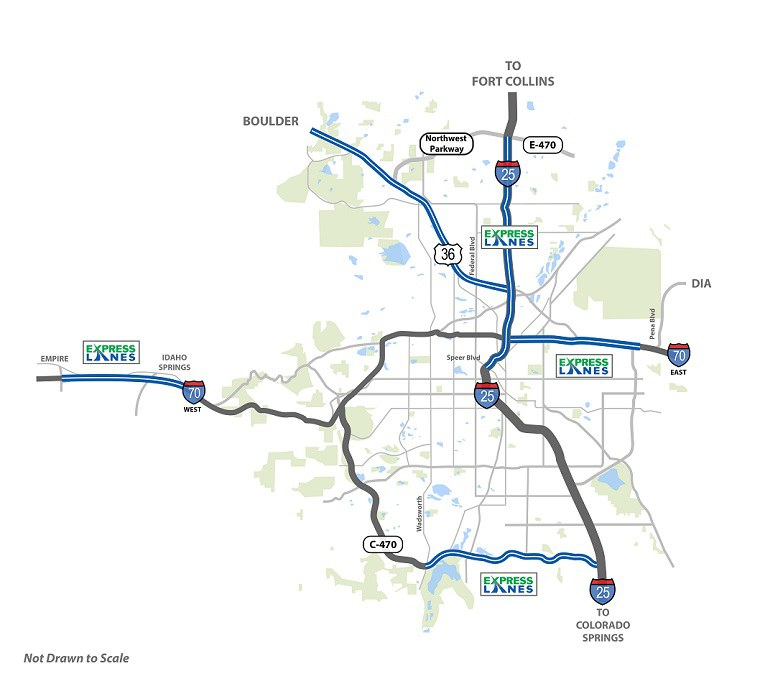 ExpressLanes Corridor Map