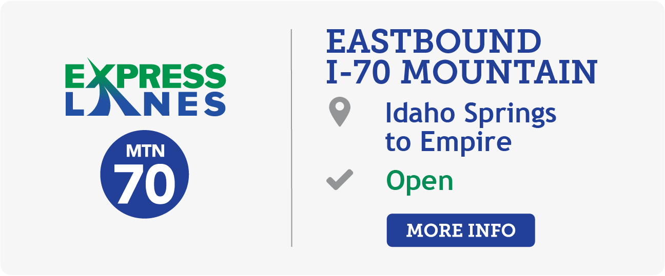 I-70 from Idaho Springs to Empire