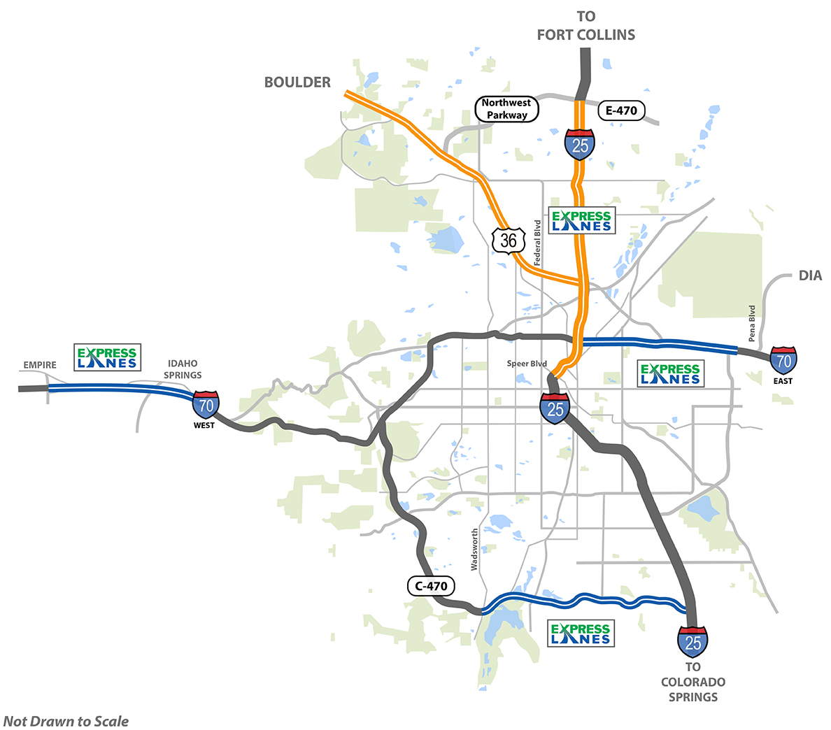 Express Lanes Map