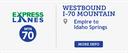 Westbound I-70 Mountain Express Lanes  thumbnail image