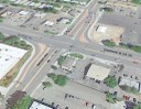 Continuous flow intersection at Madison Avenue and Eisenhower Boulevard