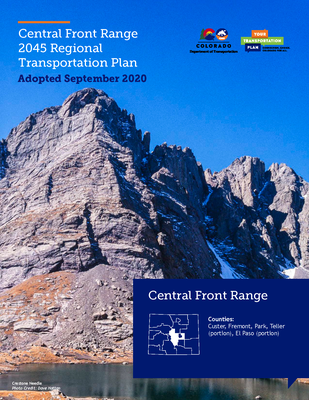 Central Front Range 2045 Regional Transportation Plan Cover, Draft May 2020