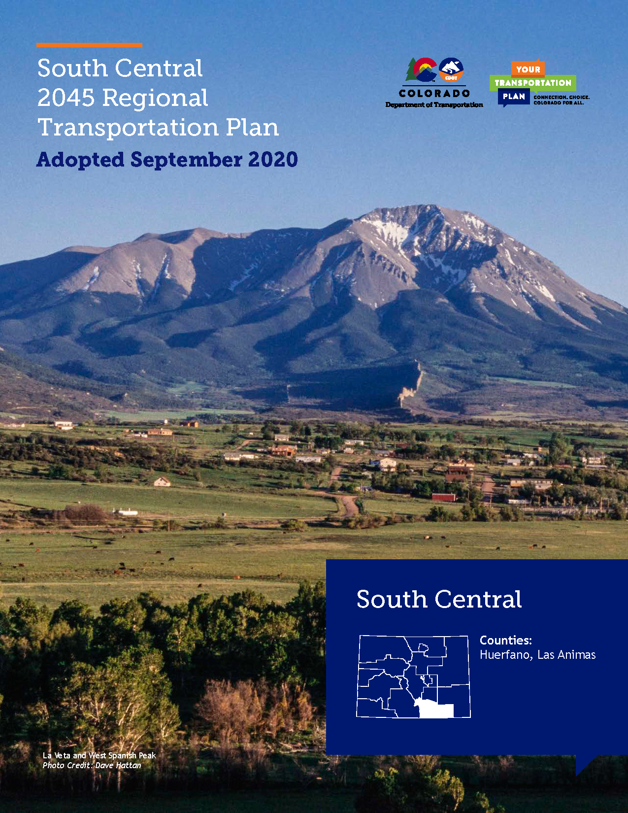 South Central Regional Transportation Plan 2045 Cover
