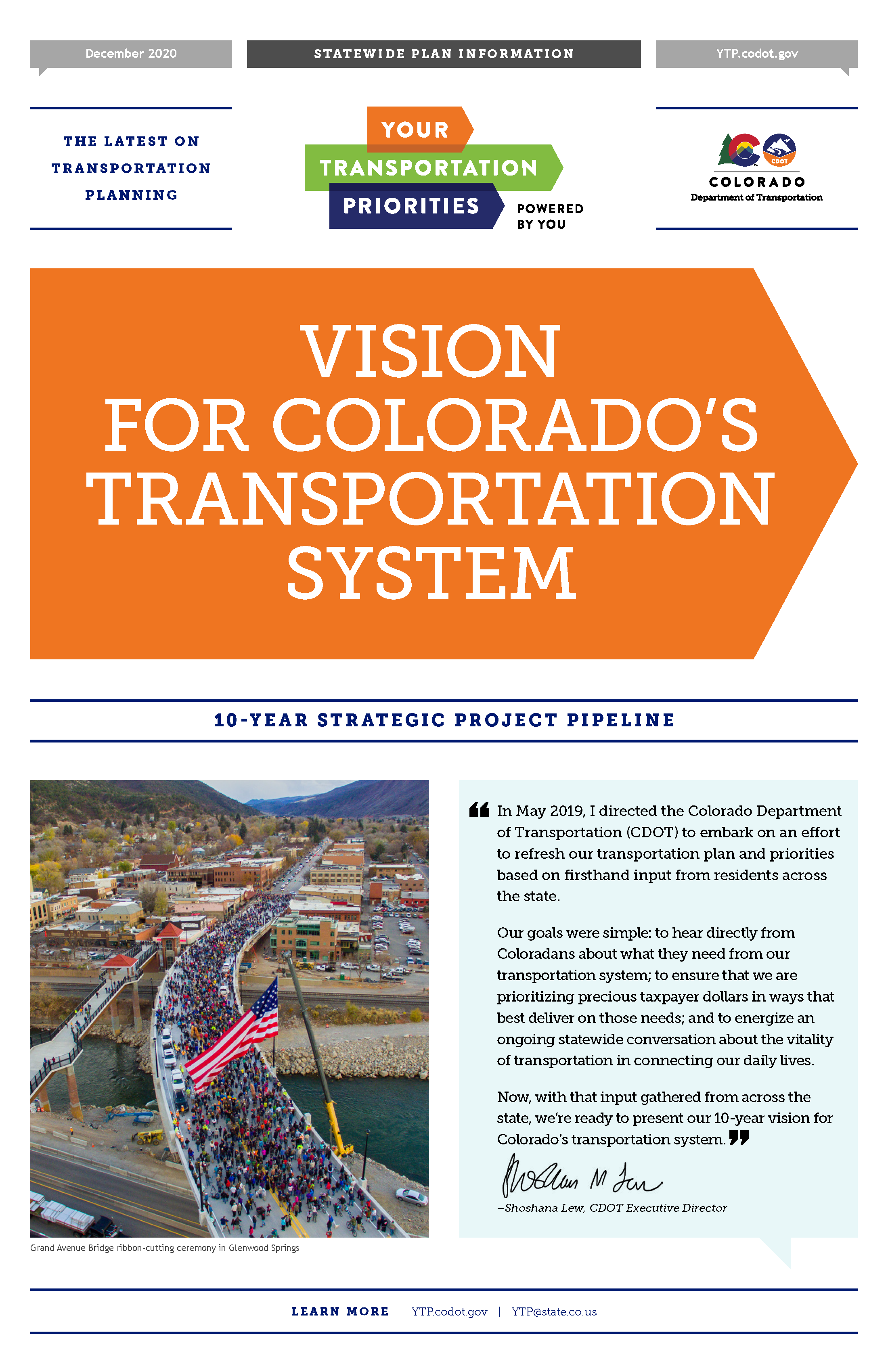 Your Transportation Priorities 10-Year Vision cover