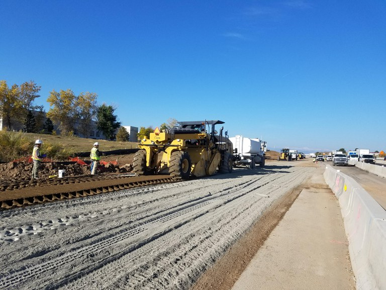 Cement Treated Subgrade Operation