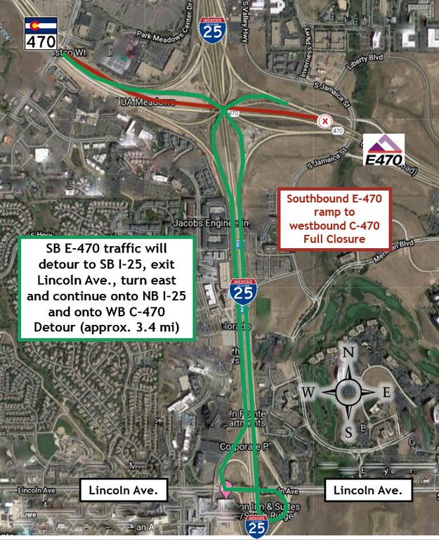 E-470 Ramp Closure Detour