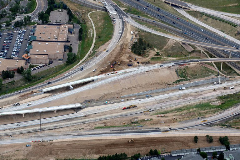 New Westbound Express Lanes and General Purpose Lanes – Facing East.JPG