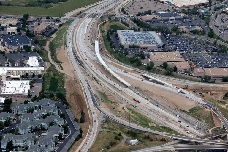 New Westbound Express Lanes and General Purpose Lanes – Facing West.JPG