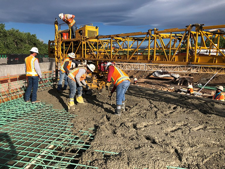 South Platte Bridge Concrete Pour