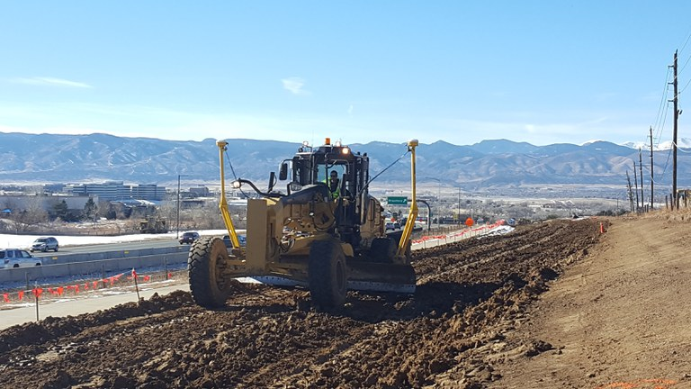 Trail Embankment Compaction on WB C-470
