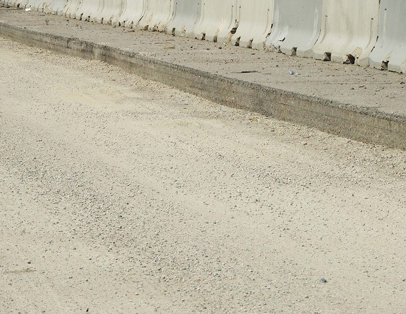Milling and paving on southbound I-25