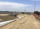 Pedestrian/Bike path and wall westbound leading to pedestrian tunnel under I-25 thumbnail image