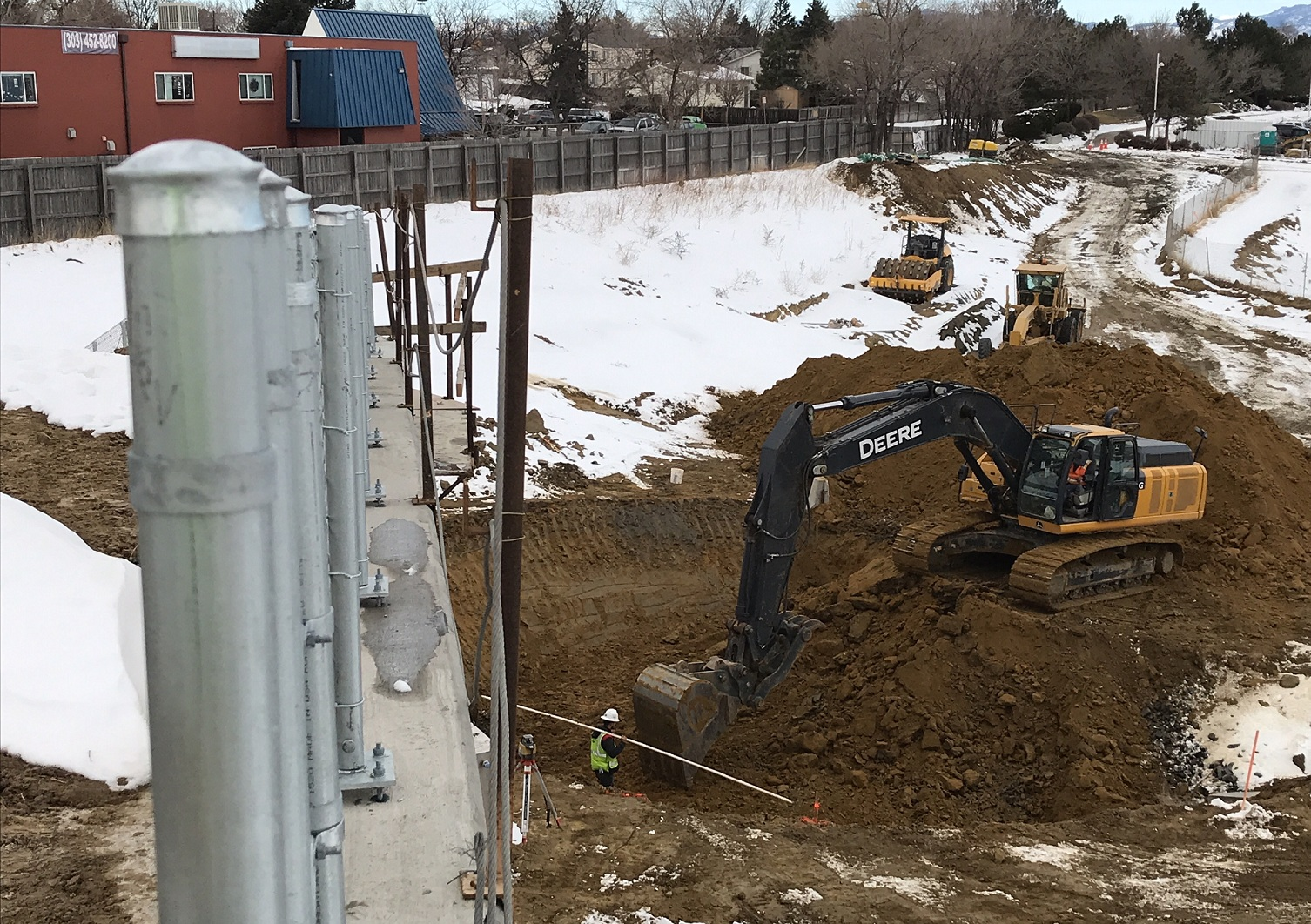 Pond AB Concrete Structure Excavation by Wagon Road Park-n-Ride