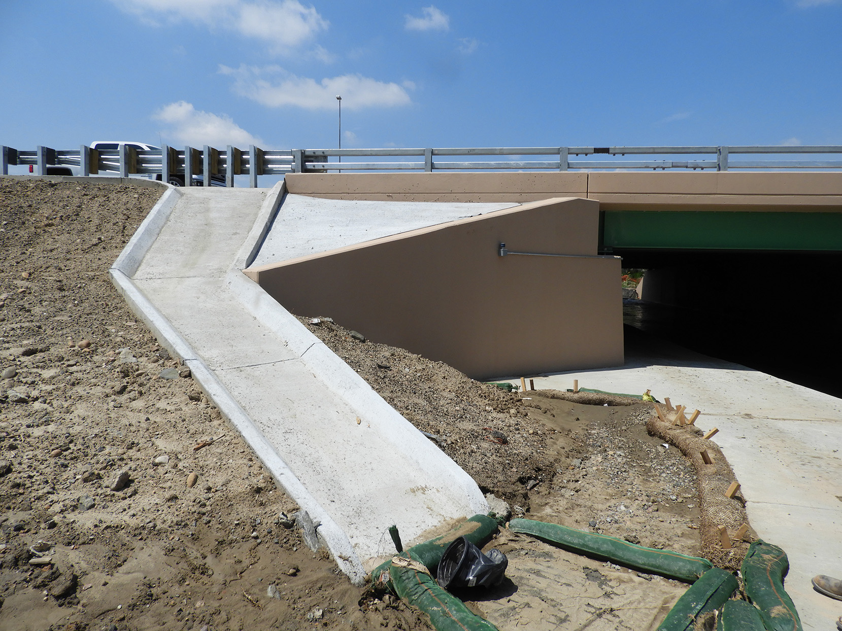 Water drainage south of 136th Avenue on the east side of northbound I-25