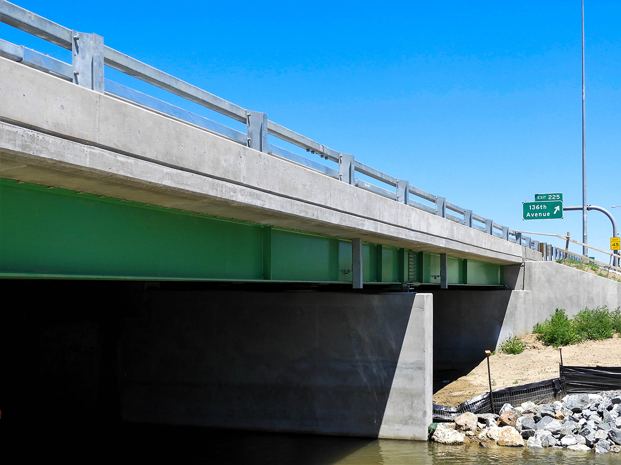 Cleanup of bridge widening south of 136th Avenue on NB and SB I-25