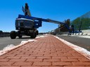 Pouring of concrete median cover on SB I-25 on ramp at 120th Avenue thumbnail image