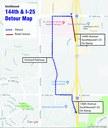 144th & I-25 Detour Map thumbnail image