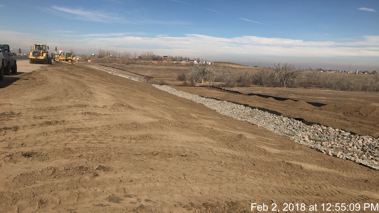 Shay Ditch Drainage Swale Installation North of 144th Avenue along NB I-25
