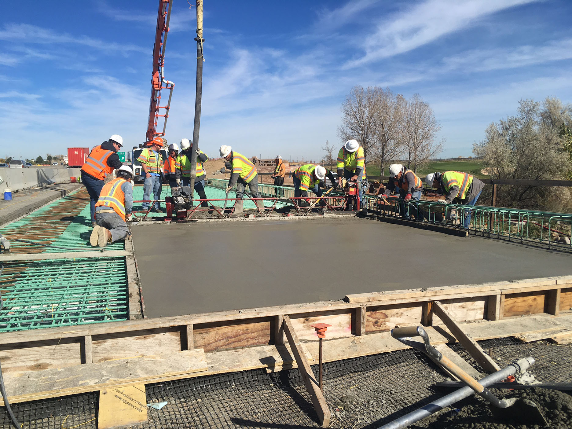 Big Dry Creek Deck Pour 1 - east side I-25 southend of deck