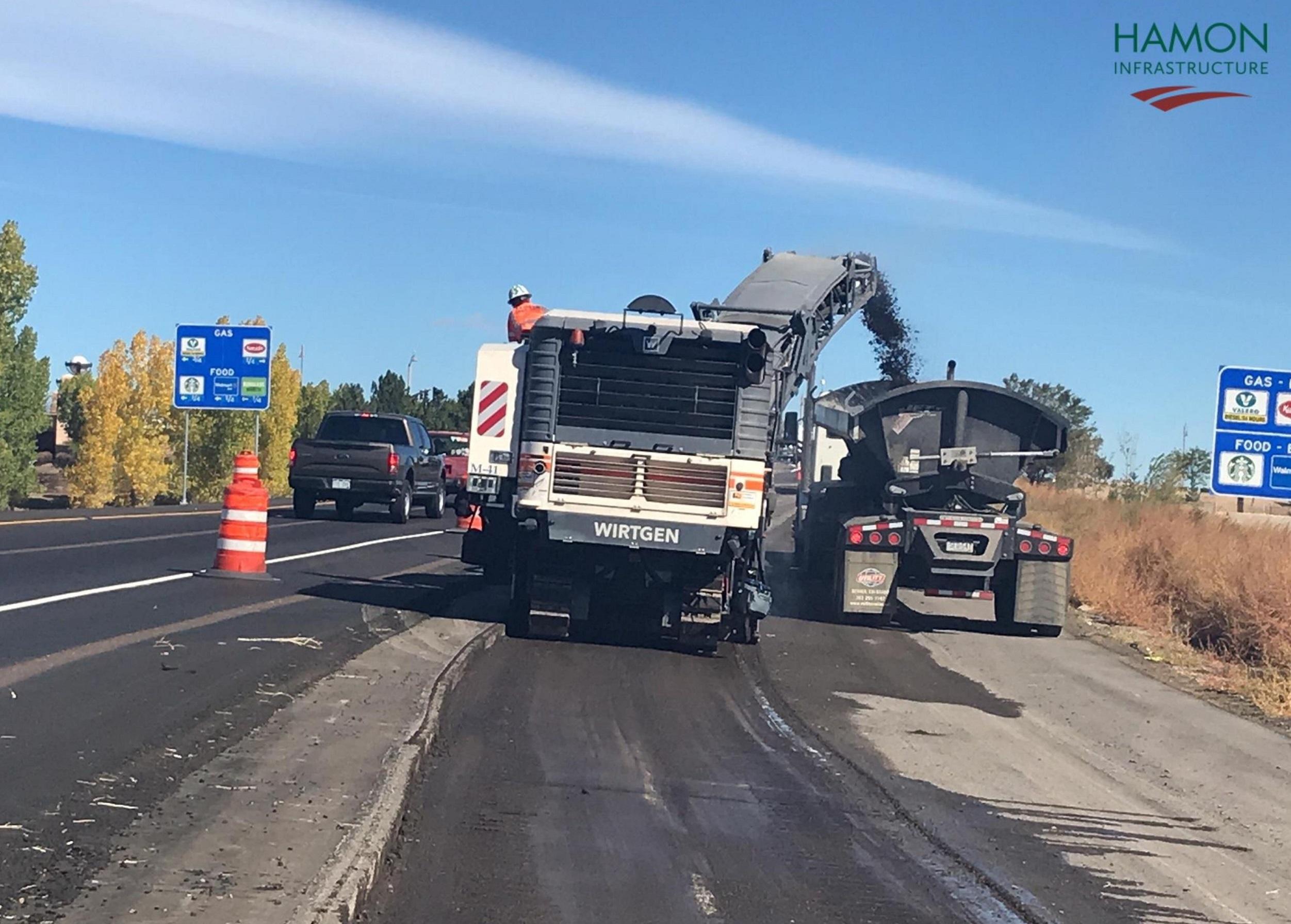 Northbound I-25, northbound 136th Avenue off-ramp, removal of detour asphalt