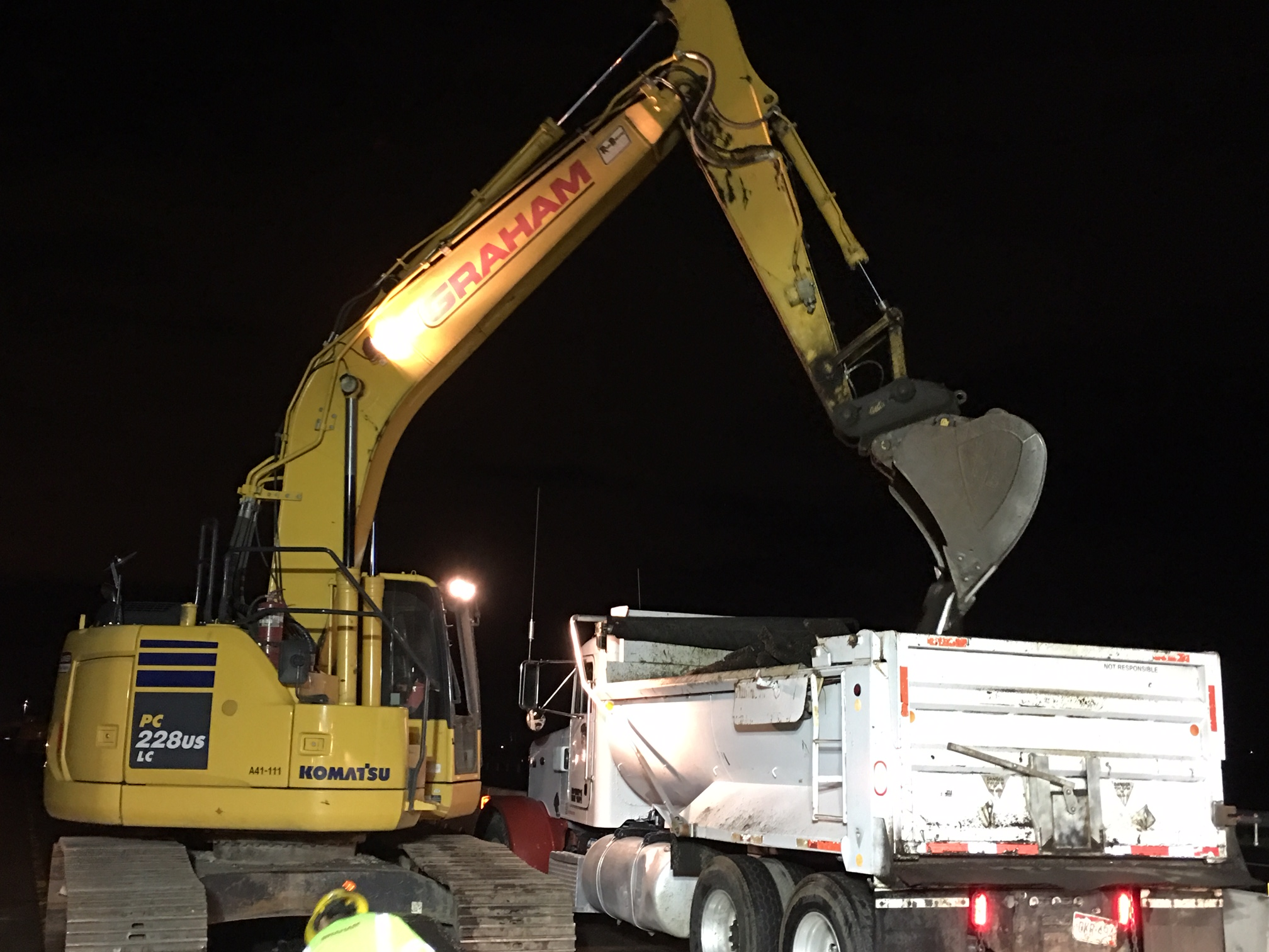 Crews hauling off milling