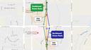 June 2017 Detour Map: North I-25 Express Lanes thumbnail image