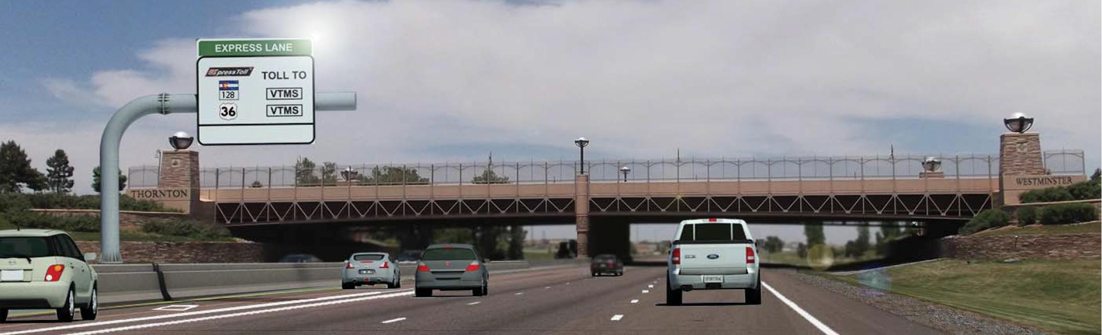 north i 25 express lanes