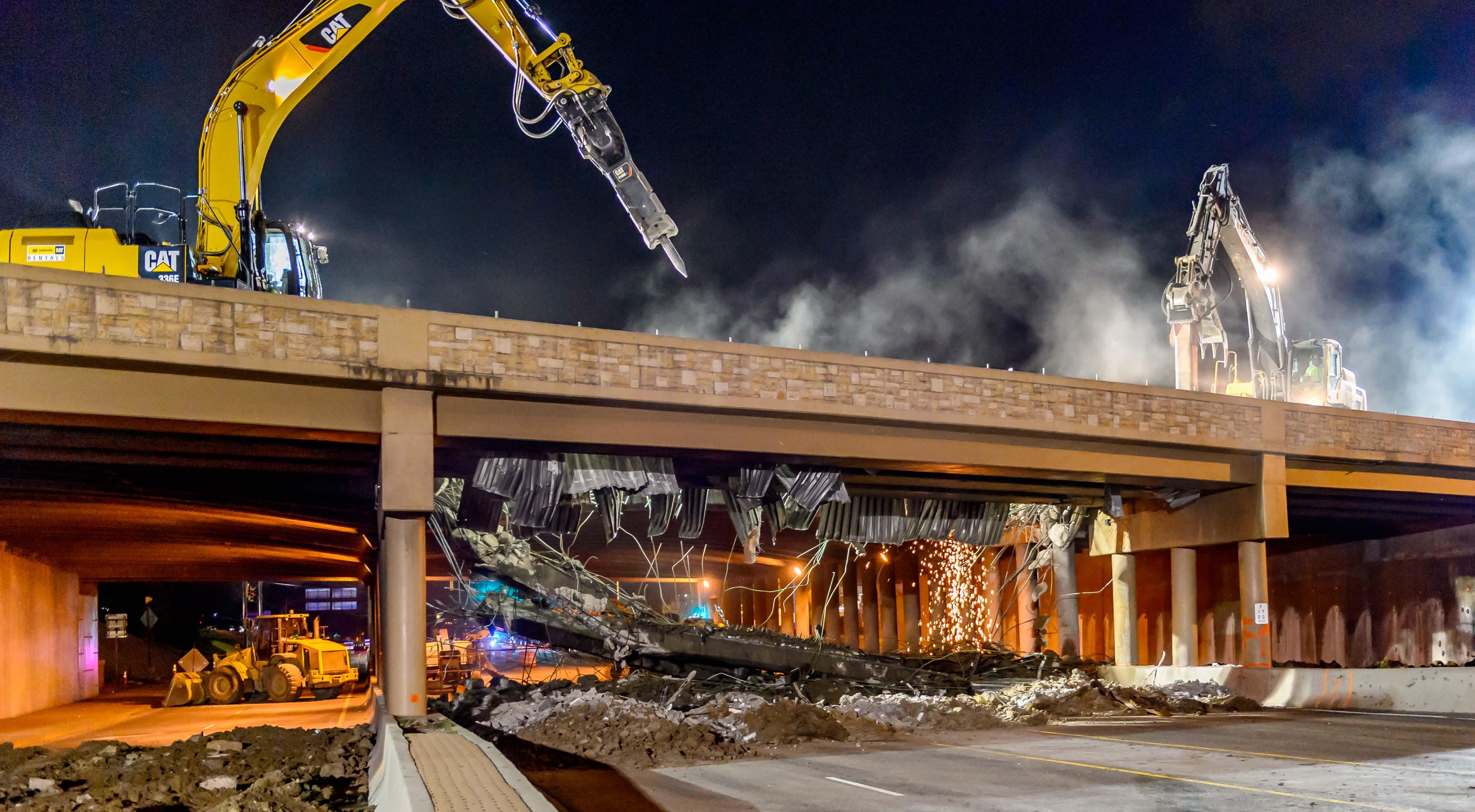 Phase 1 I 25 Bridge Demolition June 2016