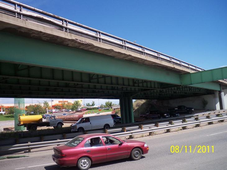 Northbound I-25 over Santa Fe Bridge detail image
