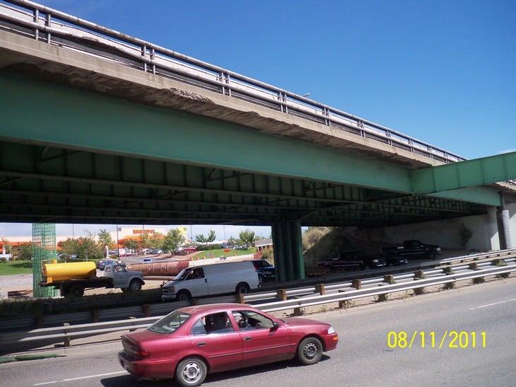 Northbound I-25 over Santa Fe Bridge
