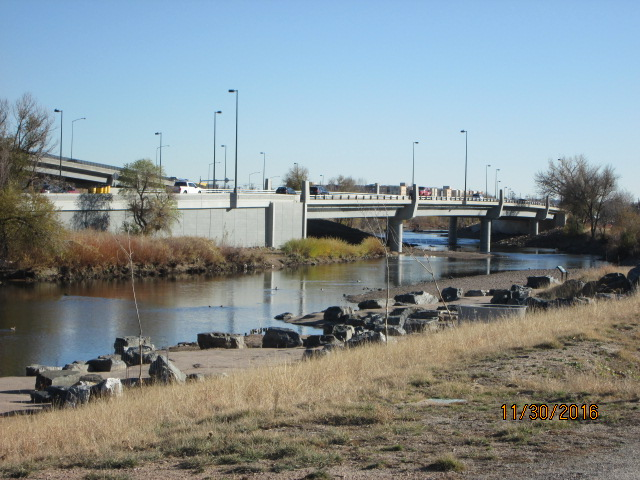 Completed southbound Santa Fe over the South Platte River