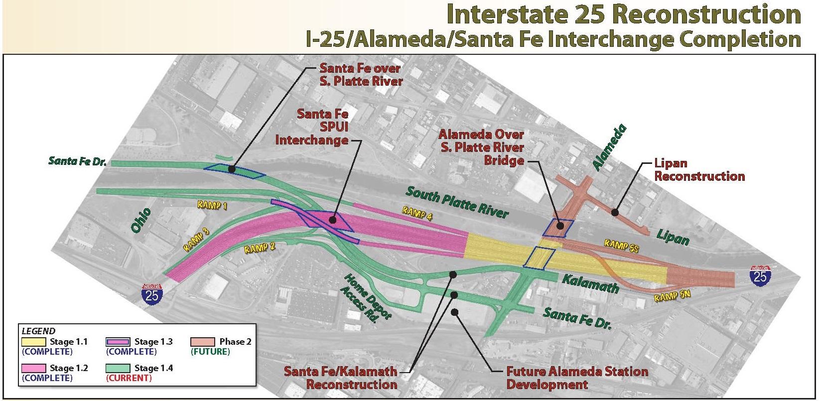 I25 Alameda/SantaFe Completion detail image