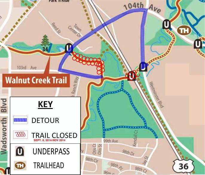 Big Dry Creek Trail Detour