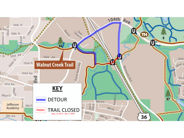 Walnut Creek Trail Detour