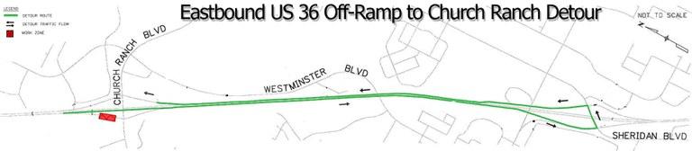 Church Ranch EB Off Ramp Detour