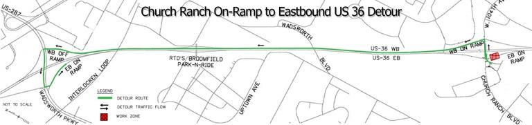 Church Ranch EB On Ramp Detour