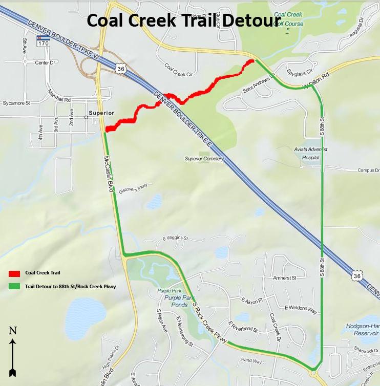 Coal Creek Bike Path Closure