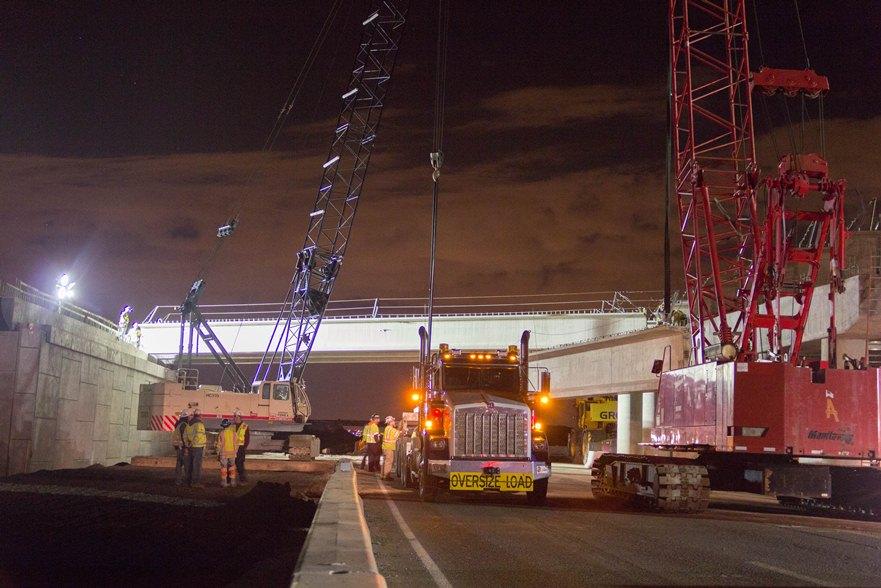 112th Uptown Avenue Bridge Girder Installation 05.10.13 detail image