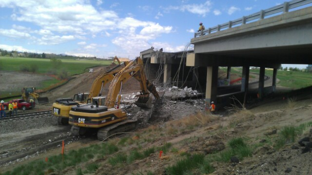 BNSF Bridge Demolition #2 02.04.14 detail image