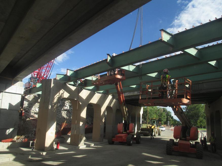 Lowell Blvd Bridge Construction 08.13.13 detail image