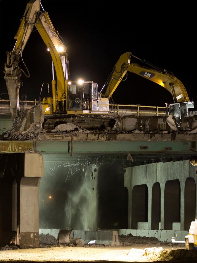 Sheridan Bridge Demolition#3 01.21.14 detail image